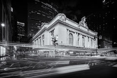 Grand Central Terminal building night Stock Photos