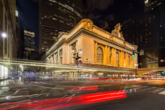 Grand_Central_Terminal_building_night Stock Image