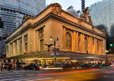 Grand_Central_Terminal_building_night Royalty Free Stock Photography