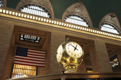 Grand Central Terminal Clock. Clock at Grand Central Terminal Railway Station, New York City, USA Royalty Free Stock Images