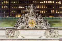Grand Central Terminal facade from Park Avenue Royalty Free Stock Photo