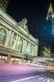 Grand Central Terminal facade from Park Avenue. 42nd street in Manhattan contains two of the most iconic buildings of NYC, Grand Central Station and the Chrysler Stock Photo
