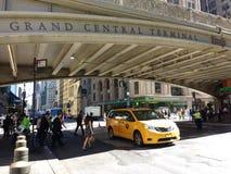Grand Central terminal, Grand Central station, Park Avenue viadukt, Pershing fyrkantviadukt, New York City, NYC, NY, USA Royaltyfri Fotografi