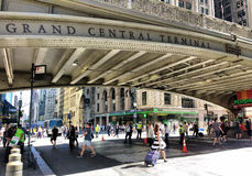 Grand Central terminal, Grand Central station, Park Avenue viadukt, Pershing fyrkantviadukt, New York City, NYC, NY, USA Royaltyfri Bild