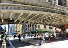 Grand Central terminal, Grand Central station, Park Avenue viadukt, Pershing fyrkantviadukt, New York City, NYC, NY, USA Royaltyfri Bild