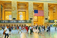 Grand Central Terminal- järnvägterminal i New York City, Uni Arkivfoton