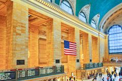 Grand Central Terminal- järnvägterminal i New York City, Uni Royaltyfria Foton