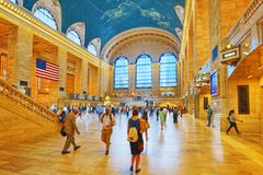 Grand Central Terminal- järnvägterminal i New York City, Uni Royaltyfri Fotografi