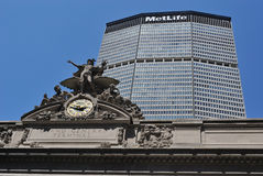 Grand Central Terminal and MetLife Building Royalty Free Stock Photos