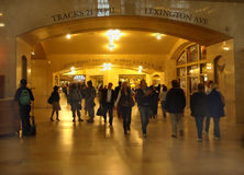 Grand Central Terminal New York USA. Commuters hurry to their trains at Grand Central Station, New York City stock photo