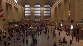 Grand Central Terminal in New York City. stock video footage