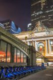Grand Central Terminal,New York. NEW YORK - DECEMBER 21: Grand Central Terminal front entance,New York.. This landmark station is the worlds largest train Stock Photography