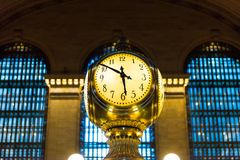 Grand Central Terminal. NEW YORK, USA - OCT 8, 2015: Grand Central Terminal (GCT) is a commuter railroad terminal. It's located at  42nd Street and Park Avenue Stock Photo