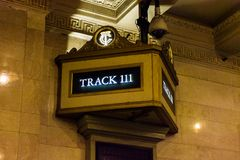 Grand Central Terminal. NEW YORK, USA - OCT 8, 2015: Grand Central Terminal (GCT) is a commuter railroad terminal. It's located at  42nd Street and Park Avenue Stock Photos