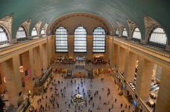 Grand Central Terminal, NYC. USA. Building facade decoration and clock from the top view Stock Photography