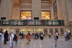 Grand Central terminal schedule board Stock Photo