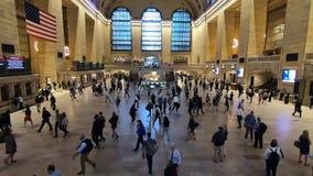 Grand Central -Terminal tijdens ochtendspitsuur stock footage