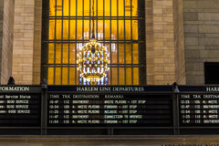 Grand Central Terminal Timetable Stock Images
