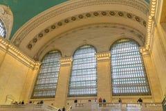 Grand Central terminal tre Windows Arkivbild