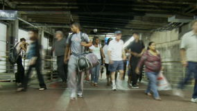 Grand Central Train Platform Time Lapse Clip 2. Time Lapse of Grand Central Station NYC stock footage