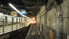 Grand Central Train Subway Platform - Time Lapse stock video footage