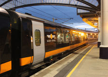 Grand Central train in York railway station Royalty Free Stock Photo