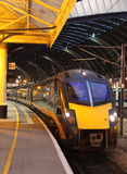 Grand Central train in York railway station Stock Images