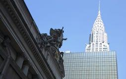 Grand Central y edificio de Chrysler en New York City Imágenes de archivo libres de regalías