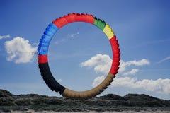 Grand cerf-volant de cercle Image libre de droits