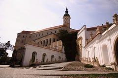 Grand château avec la tour de signle Images libres de droits