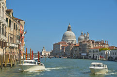 At the Grand Channel in Venice. The views from grande canale. Venice Stock Photos