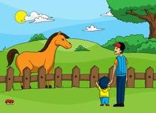 Grand cheval Image stock
