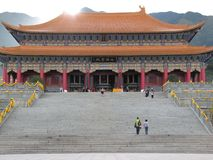 Grand chinese temple. Royalty Free Stock Images