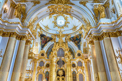 Grand Church of the Winter Palace, Hermitage Museum, St. Petersb. ST. PETERSBURG, RUSSIA - AUGUST 27: The Grand Church of the Winter Palace, interior of the Stock Photography