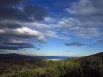 Grand ciel Espagne Peniscola Itra Photos libres de droits