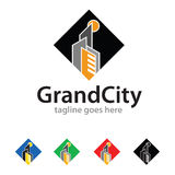 Grand City Logo Template Design Vector Royalty Free Stock Photo
