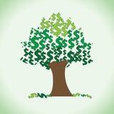 Grand clipart d'arbre du dollar illustration de vecteur