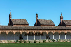 Grand Cloister of the Certosa di Pavia monastery, Italy Stock Photography