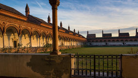 Grand Cloister of the Pavia Carthusian monastery. Stock Photography