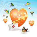 Grand coeur Image libre de droits
