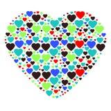 Grand coeur composé de petits coeurs Photographie stock libre de droits