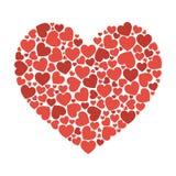 Grand coeur de petite illustration de vecteur de couleurs du flart UI de coeurs illustration libre de droits