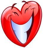 Grand coeur de sourire illustration de vecteur