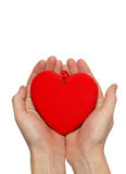 Grand coeur de valentine Photographie stock