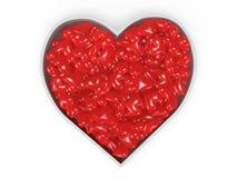 Grand coeur du petit rendu des coeurs 3d illustration de vecteur