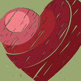 grand coeur rouge Images libres de droits