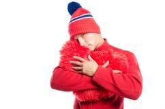 Grand coeur rouge de witn sexy de type Jour du `s de Valentine Du coeur Photographie stock libre de droits