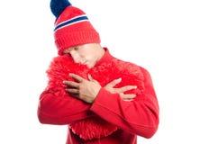 Grand coeur rouge de witn sexy de type Jour du `s de Valentine Du coeur Photos stock