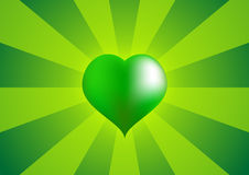 Grand coeur vert 2 illustration stock