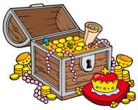 Grand coffre de trésor Image stock